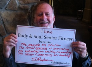 John is a member with that always spreads the word about Body & Soul and gives great support