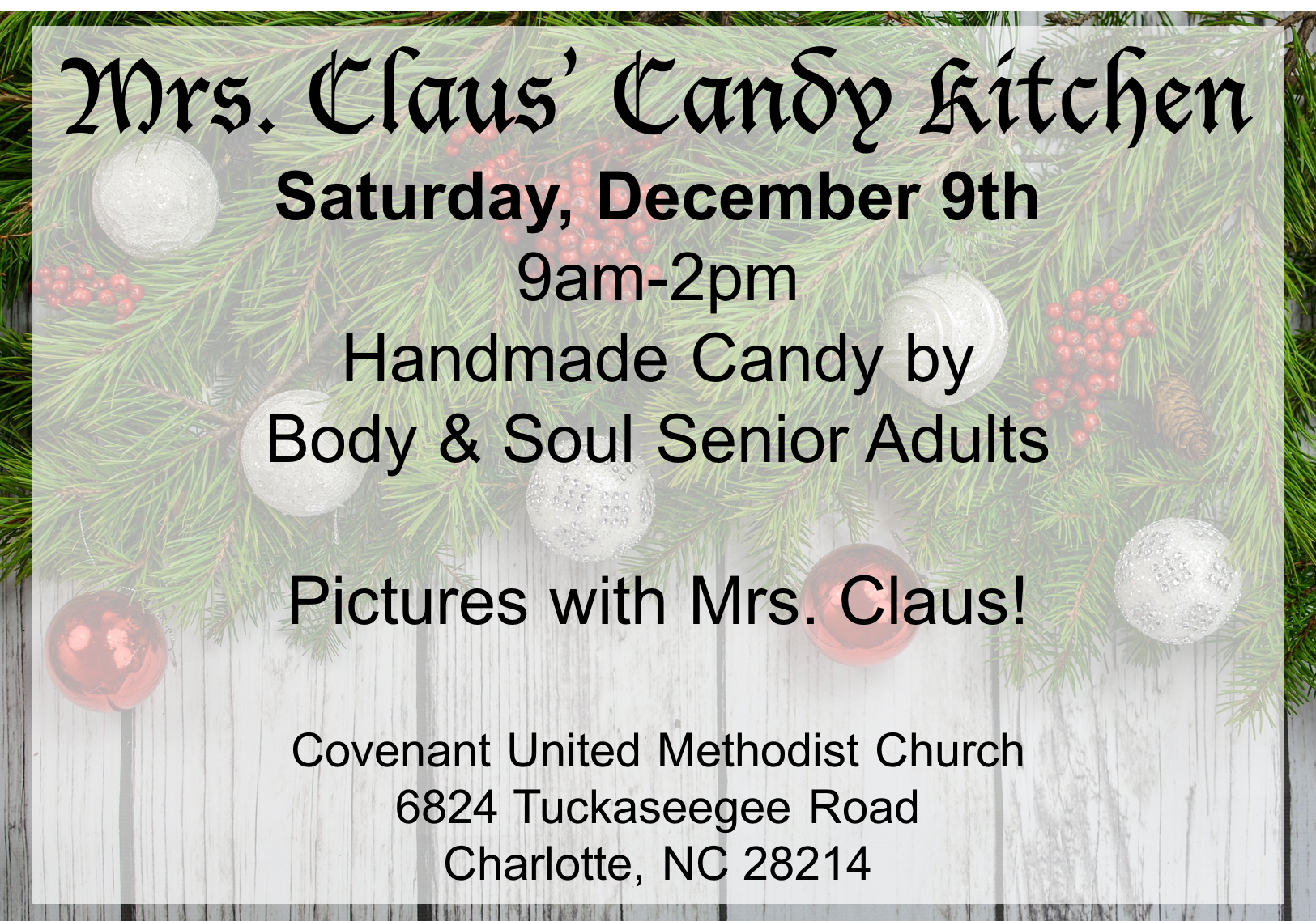 Mrs. Claus' Candy Kitchen